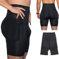 65aad80f452 Hot Sale Men s Underwear High Waist Pants Slimming Body Shaper Underwear  Padded Hip Control Panties Seamless Waist Trainer Butt CJA149