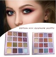 ingrosso kit trucco glitter-Beauty Glazed Matte Eye Shadow Pallete 16 colori perlescenti glitter ombretto trucco Pallete Kit professionale per ombretti