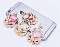 anillo de zorro de diamante de imitación al por mayor-Universal 360 Grados Fox Anillo de Dedo Titular Anillo de Diamante de diamantes de imitación Anillo Soporte de Teléfono Soporte para iPhone X Samsung Teléfonos Móviles
