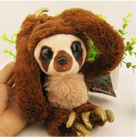 etek oyuncakları toptan satış-[TOP] 65 cm 100 cm Kemer sloths Uzun kol maymun peluş bebek Crood'lar Fabrika doğrudan satış oyuncaklar yumuşak Büyük gözler maymun bebek hediye