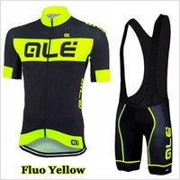 Wholesale high quality cycling clothing team for sale - Group buy 2019 Ale team Cycling Jersey Set Men Bike Clothing Short Sleeve shirt Bib Shorts Suit High Quality summer bicycle sports uniform