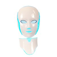 Wholesale dark neck mask for sale - Group buy PDT Light Therapy LED Facial Mask With Photon Colors For Face And Neck Home Use Skin Rejuvenation LED Mask