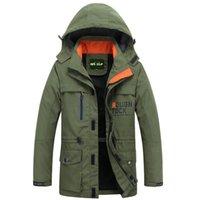 куртка с воротником оптовых-New  Spring Jacket Men Fashion Hooded Collar Removable  Bomber Jacket Casual Loose Straight Windbreaker Coat Men