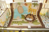 bebek beşik yorgan toptan satış-Sıcak Satış Bebek Yorgan pamuk 1 Adet Erkek Kız Desenler Boyutu 84 * 107 cm beşik yatak seti bebek Bebek yatak seti için ince Yorgan