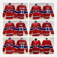 carey price çocuk formaları toptan satış-2020 Gençlik Montreal Canadiens Hokeyi Formalar Çocuklar 31 Carey Fiyatı 11 Brendan Gallagher 13 Max Domi Boys Ana Kırmızı Buz Hokeyi Jersey XMAS Hediye