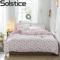 roupa de cama reativa de algodão venda por atacado-Solstice Home Textile Moda suave Reactive Imprimir folha de manta seco respirável Aloe Cotton capa do edredon fronha cama