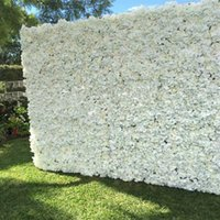 Wholesale flower back backdrops resale online - 60x40cm each Piece Peony Hydrangea Rose Flower Wall Panels for Wedding Backdrop Centerpieces Party Decorations