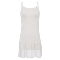 Wholesale extender 1x for sale - Group buy 1x Sexy Women s Spaghetti Straps Camisole High Stretchy Chiffon Patchwork Dress Extender Tops