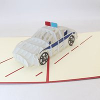 Wholesale pop up card birthday free for sale - Group buy 3D Pop Up police car Friendship Card Children s Day Happy Birthday Wish Greeting Cards