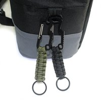 Wholesale free lanyard keychain resale online - Survival Paracord Lanyard Keychain with Carabiner Bottle Opener for Keys Flashlight Knife Useful for Outdoor Camping Kits Free DHL M142F
