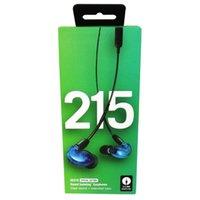 kulaklık temizle toptan satış-SE215 Special Edition Kulak Kulaklık Ses Yalıtımlı Kulaklık Kulaklık Ahizesiz Kulaklık Clear Sound artı Genişletilmiş Bas