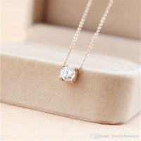 Wholesale big stainless steel pendant for sale - Group buy Nlm99 L Titanium steel Best price pendant necklace with Super Cute Lucky One big square diamond for women wedding gift Jewelry PS5032