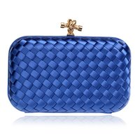 Wholesale gold elegant evening bag for sale - Group buy Elegant Ladies Evening Clutch Bag with Chain Cross Knit Weave Shoulder Bag Women S Handbags Purse Wallets for Wedding
