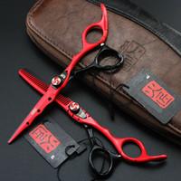 friseure schere großhandel-Großhandel 6,0 Zoll Friseurschere Friseurschere Set Friseur Ausrüstung Werkzeug mit hoher Qualität