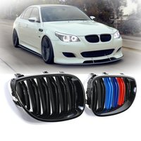 Wholesale bmw series black kidney grills online - Black M Color Front Kidney Grill Grille for BMW E60 E61 Series