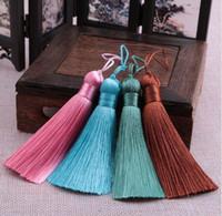 ingrosso rayon del nastro-8 centimetri di nylon cinese Nylon di seta del rayon nappe per gioielli ciondolo orecchino fai da te lungo frangiato nodo del nastro nodino raso trim