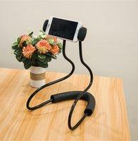 ingrosso porta pigro per smartphone-Pigro collo supporto del telefono del basamento per iPhone Tablet Universal Mobile Phone Holder flessibile Smartphone nuova staffa di supporto