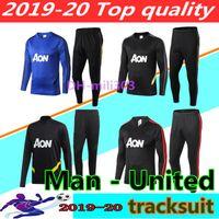 traje marcial al por mayor-2019 2020 Manchester United MARTIAL Soccer united Chándal Kits de entrenamiento para adultos POGBA 18 19 20 Traje de hombre unido Uniforme deportivo de suéter de fútbo