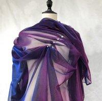 прозрачное фиолетовое платье оптовых-Фиолетовый тонкий лазер фантазии полые обесцвеченные прозрачный сетка ткань платье diy домашний текстиль патч свадебные кружева манекен ткань C575
