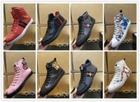 toiles noires salut tops achat en gros de-Promotions discount Nouvelles chaussures en cuir véritable de haute qualité pour hommes Casual chaussures plates Hi-Top baskets noir blanc motif tête de tigre serpent extérieur 832