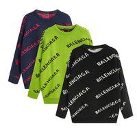 suéter de design para homens venda por atacado-Homens Mulheres pulôver de Luxo Marca Hoodie longo da luva Projeto Mens camisola Carta Imprimir Moda Tricô Camisolas do Agasalho
