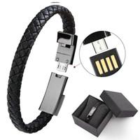 pulseras de nuevo tipo al por mayor-Nueva pulsera Tipo de cable de datos C Micro USB Muñequera Cable de sincronización Cable de carga Cargador rápido Usb Cables de cargador USB para teléfono inteligente Android