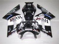 kit de plástico branco zx6r venda por atacado-Kit de carenagem de plástico de moldagem por injeção para Kawasaki Ninja 636 ZX6R 03 04 branco preto carenagens kits ZX6R 2003 2004 MT07