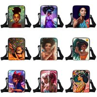 Wholesale cartoon character girls resale online - Girl Student One Shoulder Backpacks Design Character Cartoon Crown Girl Multi function Small Square Bags Kids Messenger Bag