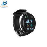 calificación ip65 al por mayor-D18 frecuencia cardíaca reloj inteligente de oxígeno en sangre pulsera inteligente reloj deportivo IP65 impermeable hombres y mujeres para Huawei xiaomi IPhon al por mayor