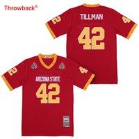 pancadinha vermelha venda por atacado-1997 Rose Bowl Arizona estado sol Devis (ASU) Pat Tillman Jersey faculdade futebol camisas marrom costurado camisas vermelho