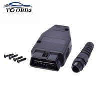 obd 16 großhandel-Auto-Diagnosewerkzeug OBD-Stecker 16pin OBD2 Stecker OBD 2 16 Pin II Adapter OBDII J1962 Stecker Bester Preis