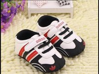 Wholesale newborn baby leather moccasins for sale - Group buy New Romirus baby moccasins infant anti slip PU Leather first walker soft soled Newborn years Baby shoes