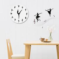 ingrosso divano moderno diy-diy orologio da parete al quarzo balletto orologio acrilico moderno orologio digitale horloge home decor per soggiorno adesivi sfondo divano