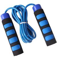 salto de goma al por mayor-Cable de acero Cuerda para saltar Velocidad Velocidad para saltar Cuerda en cruz Aptitud Sólido Recubrimiento de goma de PVC Cojinete ajustable Alta velocidad