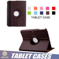 samsung için tablet kapakları toptan satış-Yeni iPad Kılıf 9.7 inç 10.5 inç Tablet Koruyucu Kılıflar için 360 Döndür Flip Kapak Kılıf iPad hava Samsung TAB 8 inç 9.5 inç T595 T110