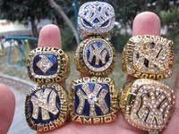 ingrosso navi da souvenir-2019 Baseball Yankees 7pcs New York World Championship Ring Set Souvenir Men Fan Gift Drop Shipping