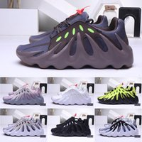 Wholesale fluorescent green fabric resale online - 2019 fashion s Sports Sneakers Mens West Kanye M Volcano Wave Runner Designer shoes Fluorescent running shoes