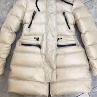 Rivestimento delle donne di inverno con cappuccio signore Slim modello reale pelliccia di volpe Collare giacca lunga anatra giù all interno cappotto