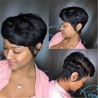 ingrosso colore dei capelli natrual-Parrucche dei capelli umani con parte anteriore brasiliana dei capelli del Virgin parte parrucche anteriori del merletto parrucche per le donne nere Parrucche nere di colore di Natrual