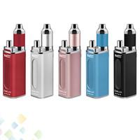 vape mod batterien für wachs großhandel-Original Yocan DeLux Kit 1500mAh 450mAh 2-in-1 Box Mod Batterie Wachs Dickes Öl Zerstäuber 5 Farben Vape Starter Kits DHL geben frei