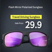 lentes de flash al por mayor-UV400 Brand Designer Sunglasses Soscar Mainlink Cyclist Sunglasses Flash Mirror gafas de sol polarizadas para hombres Mujeres Lente Ultra Light Frame HD