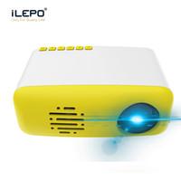 führte intelligente pixel großhandel-CS03 Mini Projektor LED Smart Heimkino Projektor 320x240 Pixel 400-600 Lumen HDMI USB TF LCD HD tragbarer Projektor