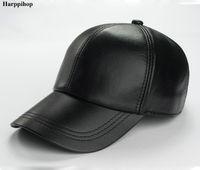 hakiki beyzbol deri toptan satış-Sıcak satış gorras hombre snapback 2017 yeni kış Koyun şapka adam için hakiki deri sıcak ayarlanabilir beyzbol şapkası caps