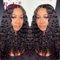 peruca de cabelo reto kinky malaio venda por atacado-360 Perucas Cheias Do Laço Frontal Onda Do Corpo Cabelo Humano Perucas Dianteiras Do Laço Kinky Yaki Em Linha Reta Cabelo Malaio Água Onda Profunda Kinky Curly Wigs