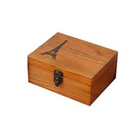 Wholesale wooden boxes resale online - Wooden Storage Box Wood Jewelry Box Display And Packaging Sundries Case Organizer Gift Box