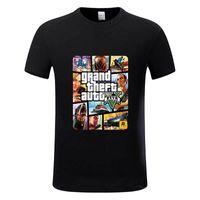 tshirt homme célèbre marque achat en gros de-Grand Theft Auto GTA T Shirt Hommes Rue Longue avec GTA 5 T-shirt Hommes et Femmes Célèbre Marque TShirt Enfants Tops Tees