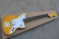 Wholesale jaguar guitar online - New Arrival Top Quality Factory Guitar Golden JAGUAR Custom Shop Electric Guitar In Stock
