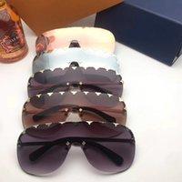 óculos de sol para mulheres roxas venda por atacado-França roxo chuva óculos de sol das mulheres sem aro marca designer óculos de proteção óculos de proteção uv 136mm 2377 lunettes