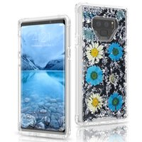 Wholesale press fittings resale online - For Samsung Note Case Full Body Protection Shockproof Rugged Bumper Non Slip Case with Real Dried Pressed Flower for Samsung S9 S9plus