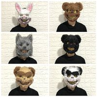 Wholesale funny face masks adults for sale - Group buy New style Halloween Bloody Rabbit Mask masquerade dance terror headgear Halloween funny perform props T9I00100